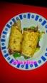 Rollitos de tortilla jamón y queso