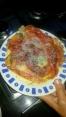 Falsa pizza lista para comer