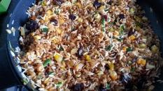 Añadimos el trigo y el arroz