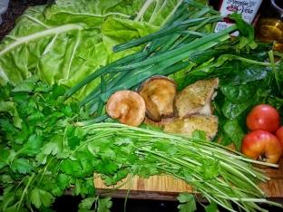 ingredientes coca de verduras