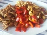 Lomo y verduras