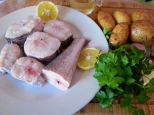 Ingredientes para la merluza con chalota y vino blanco