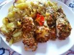 Lomos de merluza con hierbas y tomate de ramallets