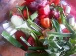 Rabo y verduras