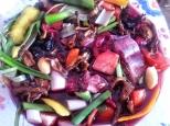 Verduras y rabo en vino