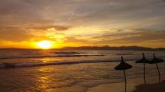 Playa de Palma puesta de sol