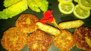 Falafel con sésamo
