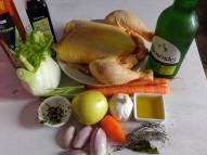 Ingredientes para el pollo a la sidra